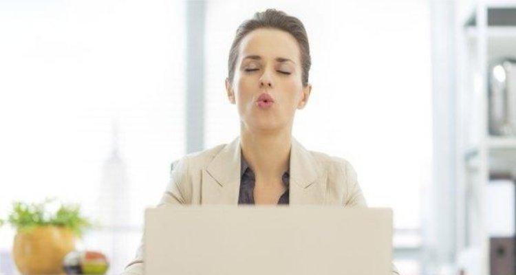 respirar en la oficina