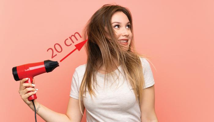 distancia secador pelo